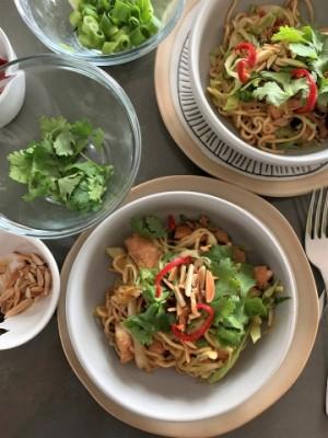 Superfood Stir-fry  (Salmon Chow Mein)
