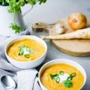 Spiced Root Vegetable & Red Lentil Soup